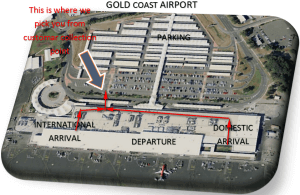 gold coast airport customer collection point